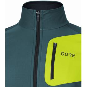 GORE WEAR R3 Partial Gore Windstopper Shirt Herre dark nordic/citrus green